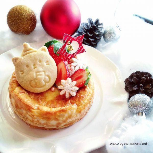 チーズケーキをクリスマスに!ベイクドチーズ