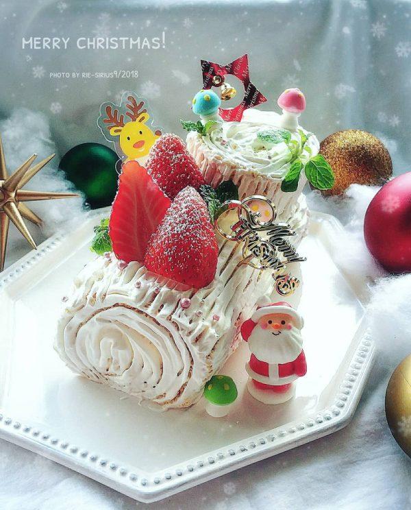 クリスマスの可愛いスイーツ!ブッシュドノエル