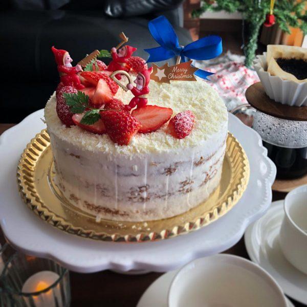 手作りクリスマスケーキの定番!ショートケーキ