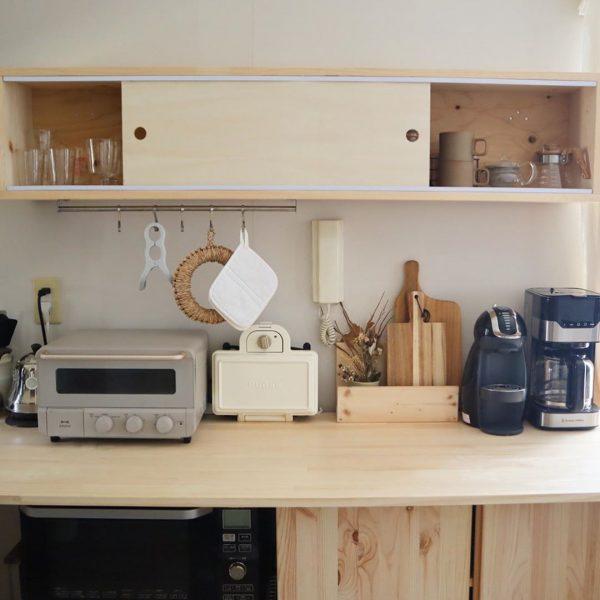キッチン道具がすっきり収まるデザイン