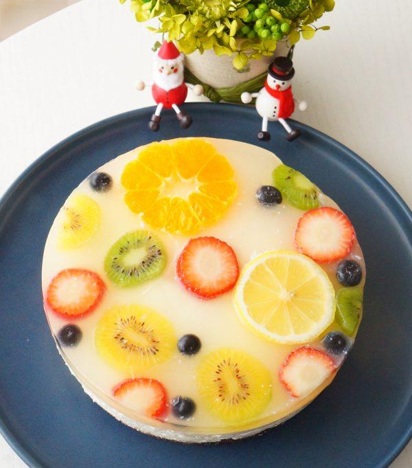 クリスマスケーキも簡単に!カラフルレアチーズ