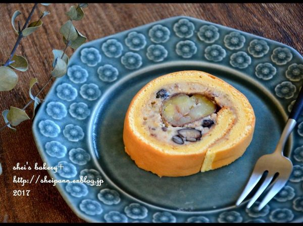 手作りでも美味しい!栗のロールケーキ