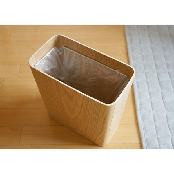 無印良品 木製ごみ箱・袋止めワイヤー付2