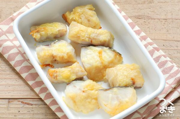 おすすめの切り身料理!たらの和風チーズ焼き