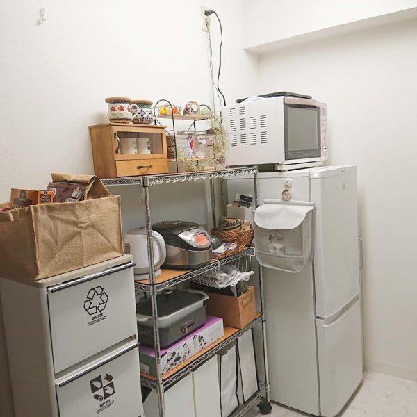 一人暮らし キッチン 収納9