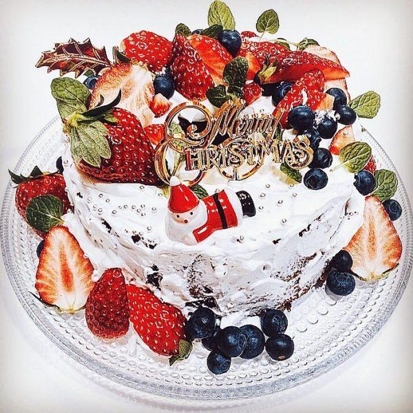 簡単手作りクリスマスケーキ!シフォンケーキ