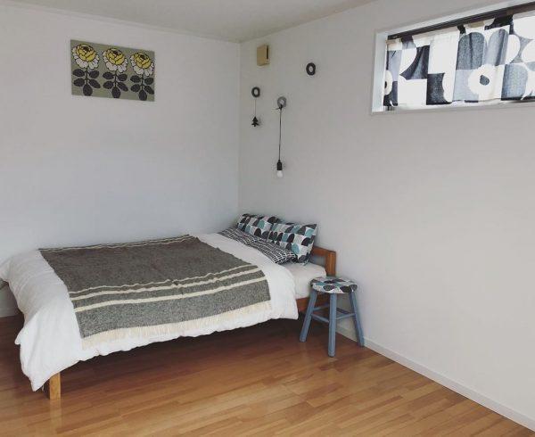 北欧寝室インテリア実例《寒色》5