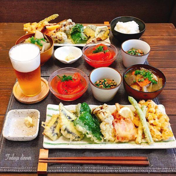 夏が旬の野菜を夕飯に!夏野菜天ぷら
