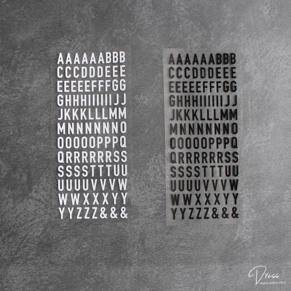 たくさん欲しくなる「アルファベットステッカー」