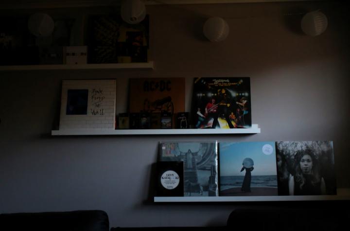 レコードを飾るおしゃれなアイデア【壁】6