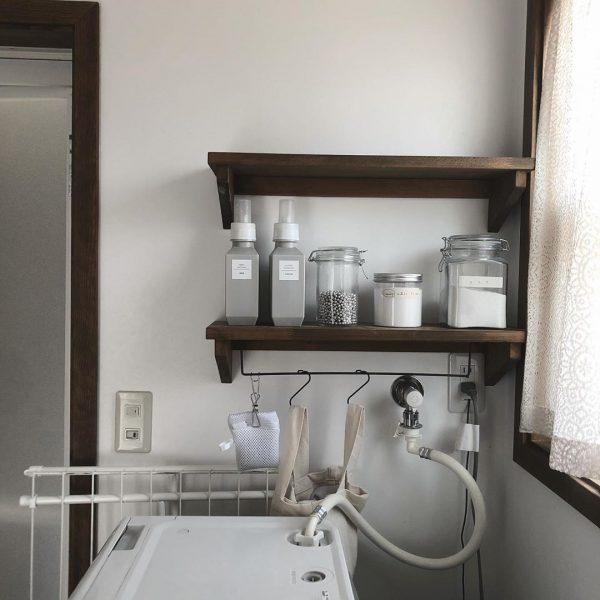 洗濯機周りの収納9