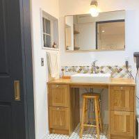 狭いけどこだわりの空間を目指す。センス豊かな洗面所インテリア
