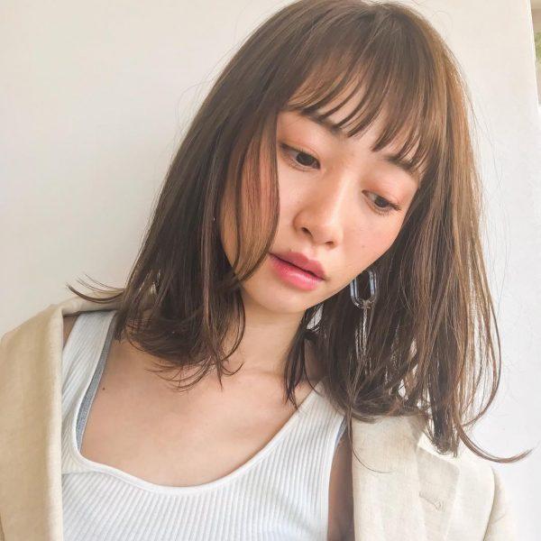 短め前髪×ミディアム9