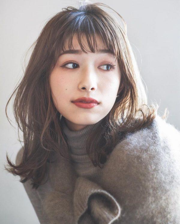 短め前髪×ミディアム15
