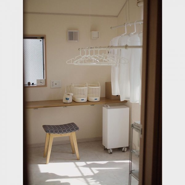 日当たりが良く気持ちの良い家事室