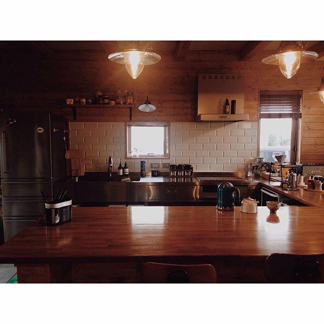 冷蔵庫の配置とI型キッチン②