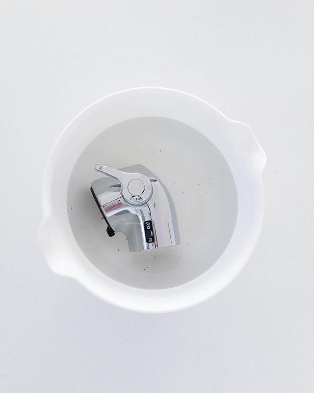 水栓ヘッドを簡単つけおき掃除
