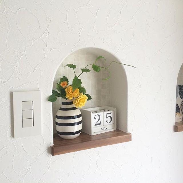 おしゃれ玄関ニッチの飾り方《植物》2
