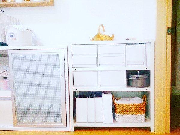 お鍋やキッチン小物の収納に使う実例