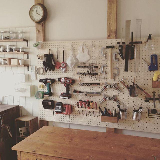 作業部屋の道具をすっきり簡単DIY収納棚