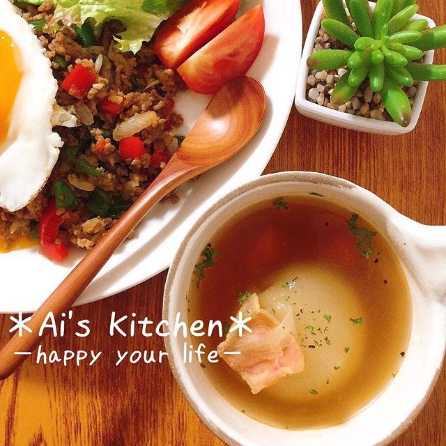 冬に美味しい♪丸ごと玉ねぎのスープ