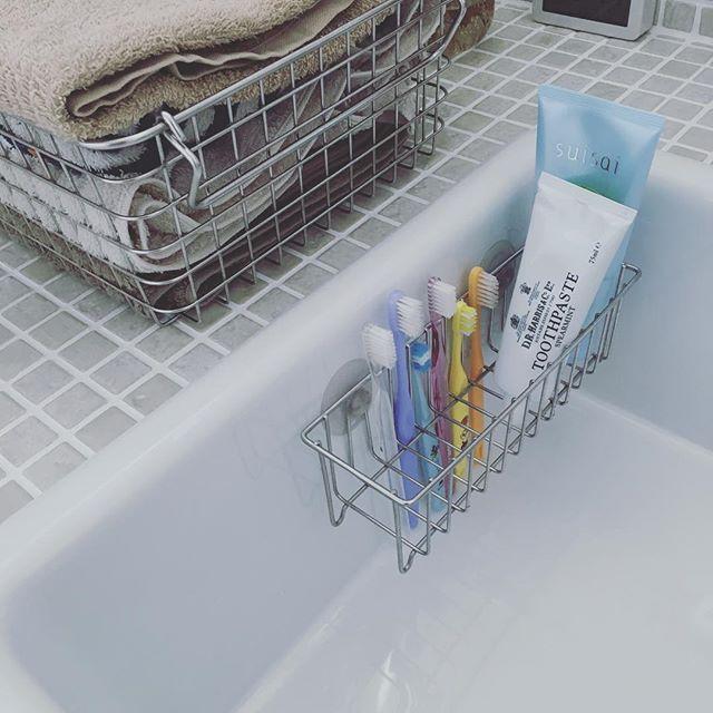 洗面台上がすっきりする歯ブラシ収納5