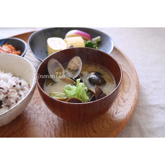 理想の朝ごはんで健康的なメニュー☆汁物3