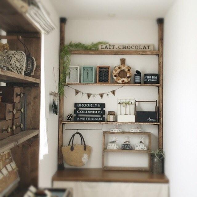 寝室のマザーズコーナー用簡単DIY収納棚