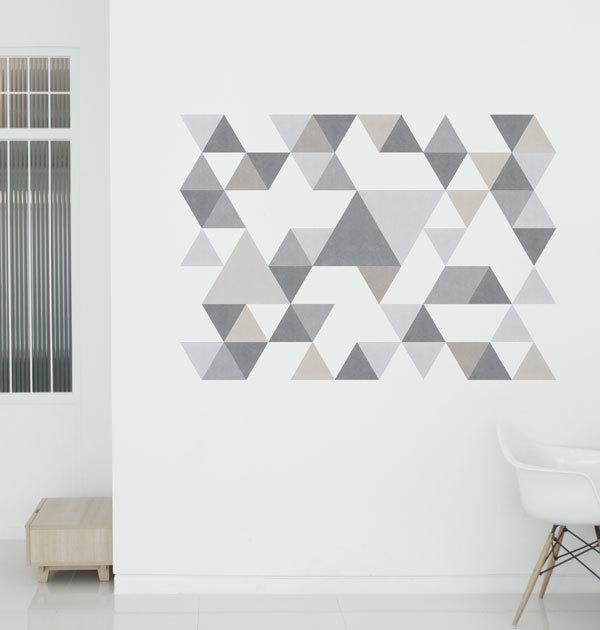 リビングの壁の飾り付けアイデア《ステッカー》5