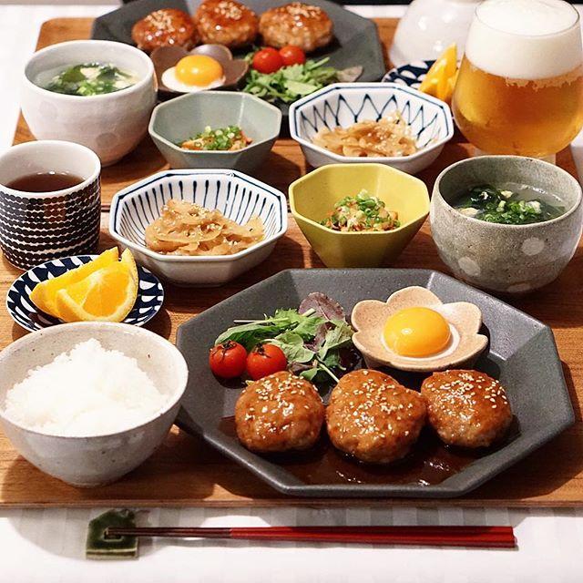 献立に困ったら!和食のつくねバーグ
