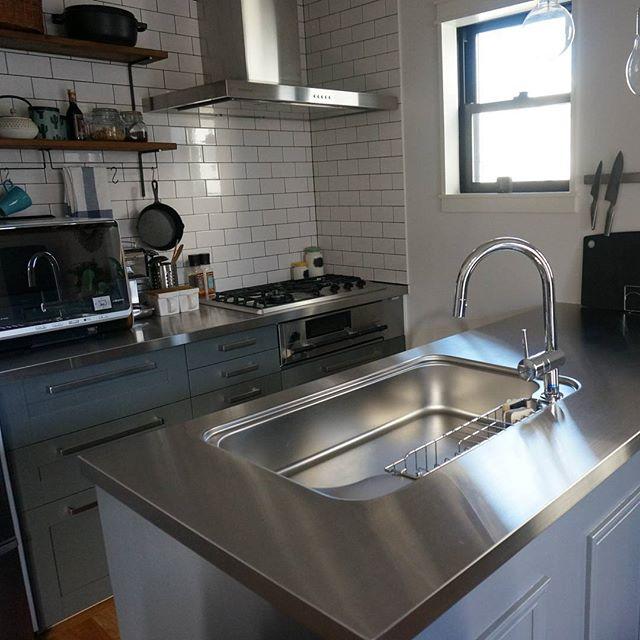 冷蔵庫の配置とⅡ型キッチン①