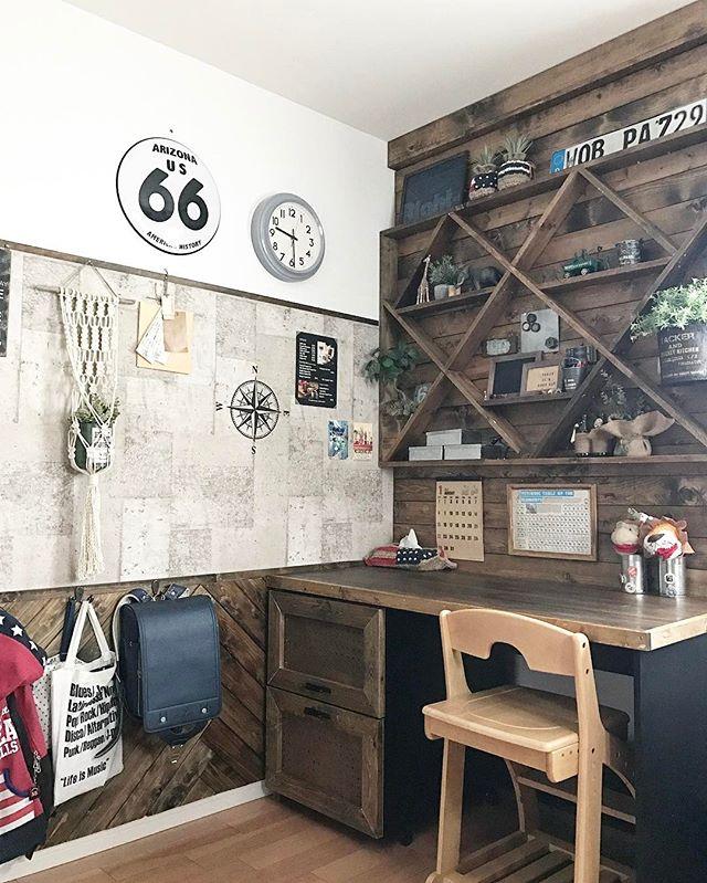 子供部屋のワクワクする簡単DIY収納棚