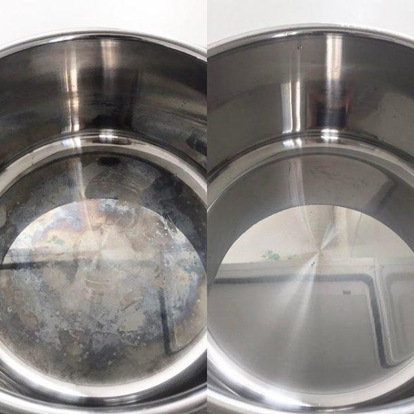 ステンレス鍋の汚れにはクエン酸水