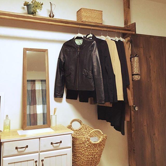 +ポールハンガーの簡単DIY収納棚