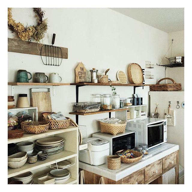 調理家電周辺におすすめ簡単DIY食器棚のキッチン収納