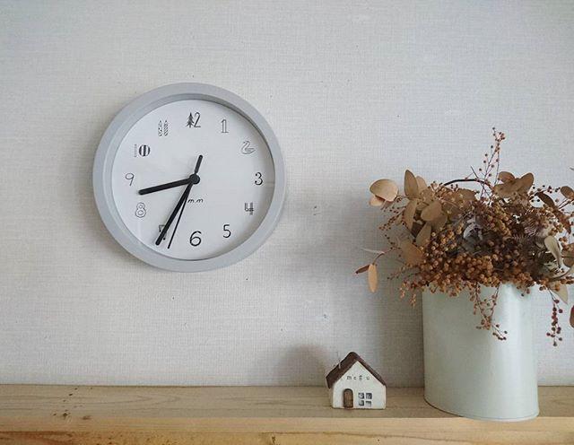 時計で彩るシンプル空間
