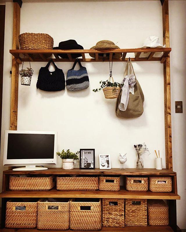 多機能でおしゃれ見え必至な簡単DIY収納棚