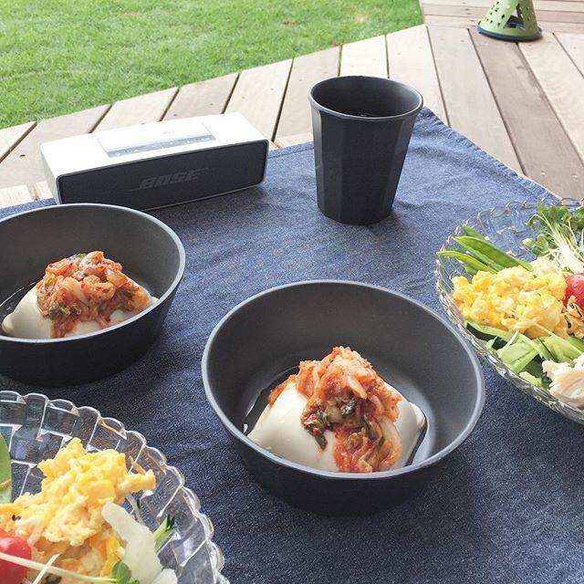 シンプルな味付け!人気のキムチ豆腐
