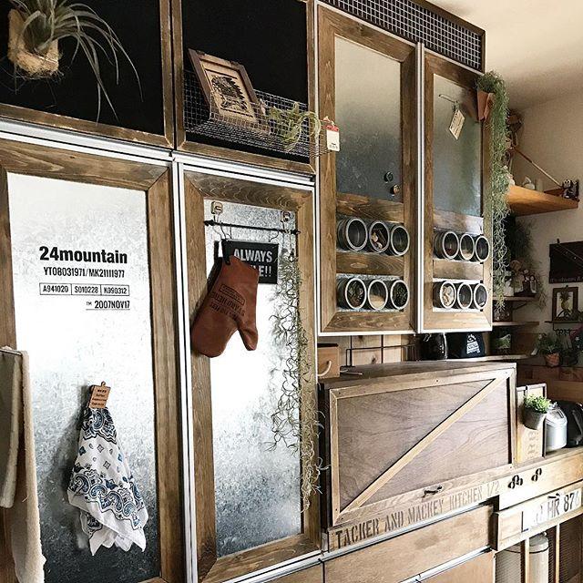 ちょいアレンジの簡単DIY食器棚のキッチン収納