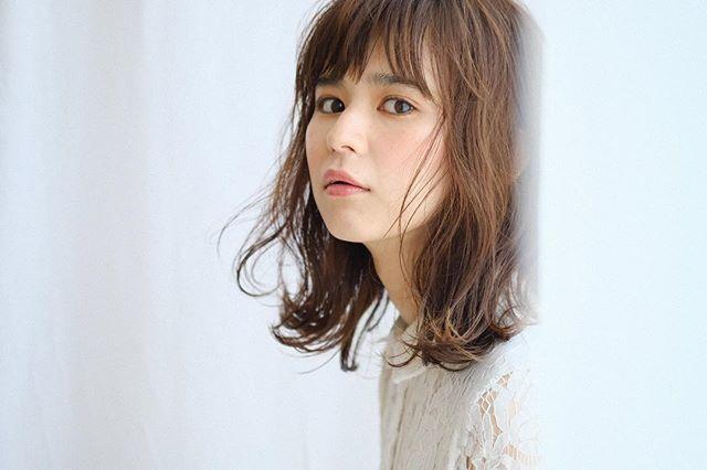 色っぽいミディアムの髪型【パーマ】6