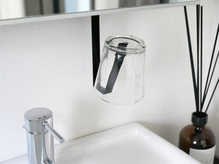 洗面戸棚下タンブラーホルダー