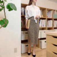 【エピセ毎日コーデ】外部の人に会う日は、シャツ&スカートのキレイめコーデ!(9/29コーデ)