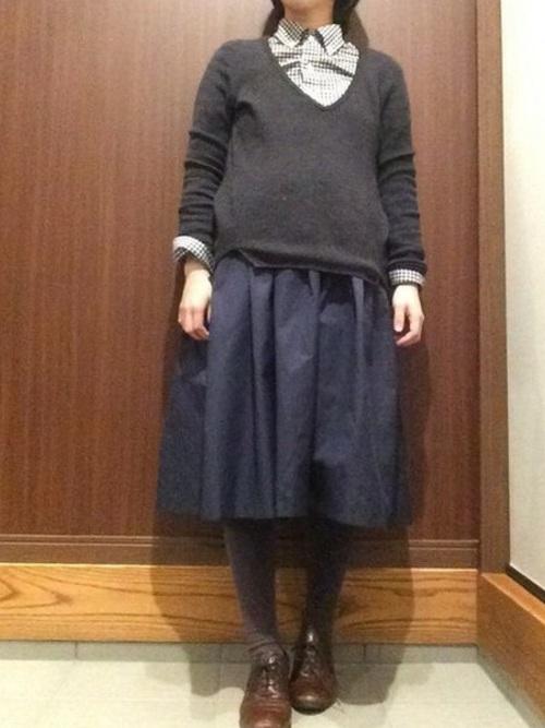 冬のマタニティコーデ《スカート》2