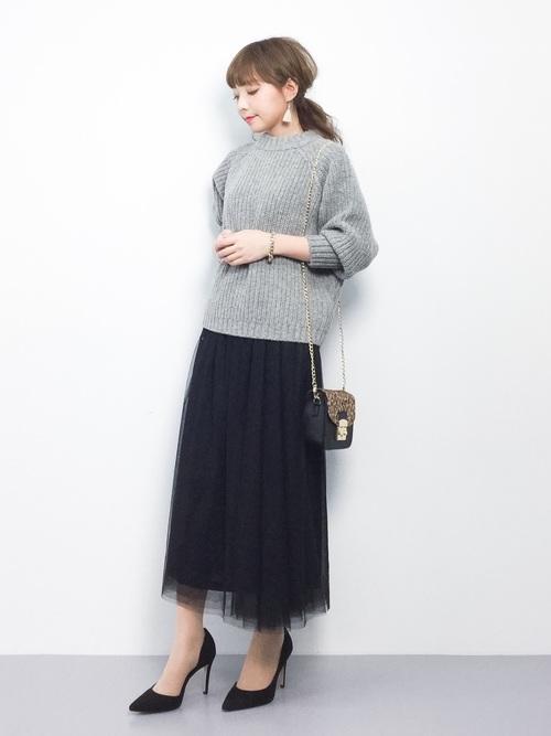 [Ranan] ロングチュールスカート