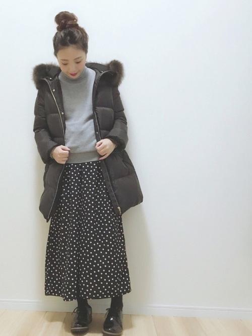 冬のマタニティコーデ《パンツ》4