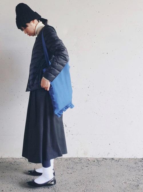 ウルトラライトダウン×ジャンパースカート