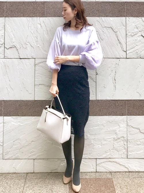 GUの冬オフィスカジュアル《スカート》5
