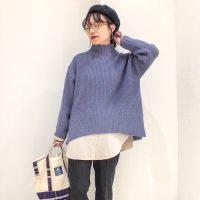 ニット×シャツレイヤードコーデ【2020秋冬】失敗しない重ね着スタイルを紹介!