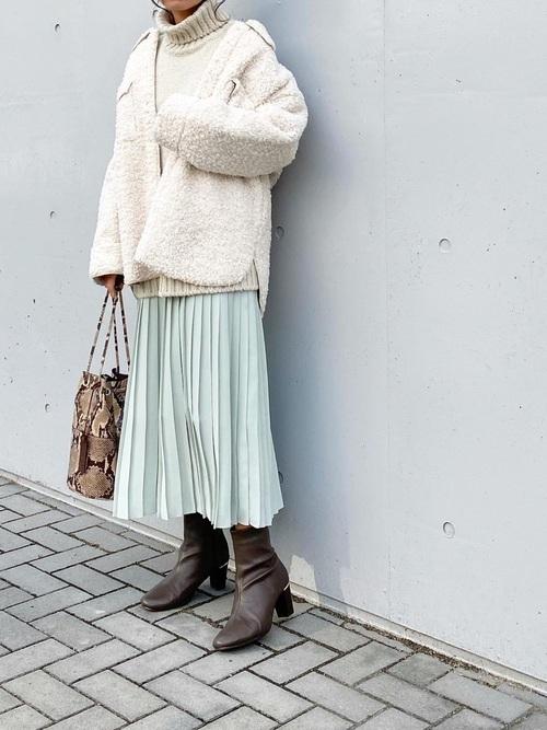 40代女性のユニクロ冬コーデ《きれいめ》11