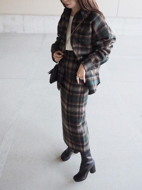 大人女子の冬のデートコーデ スカート7